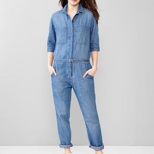 Gap Chambray Coverall Jumpsuit